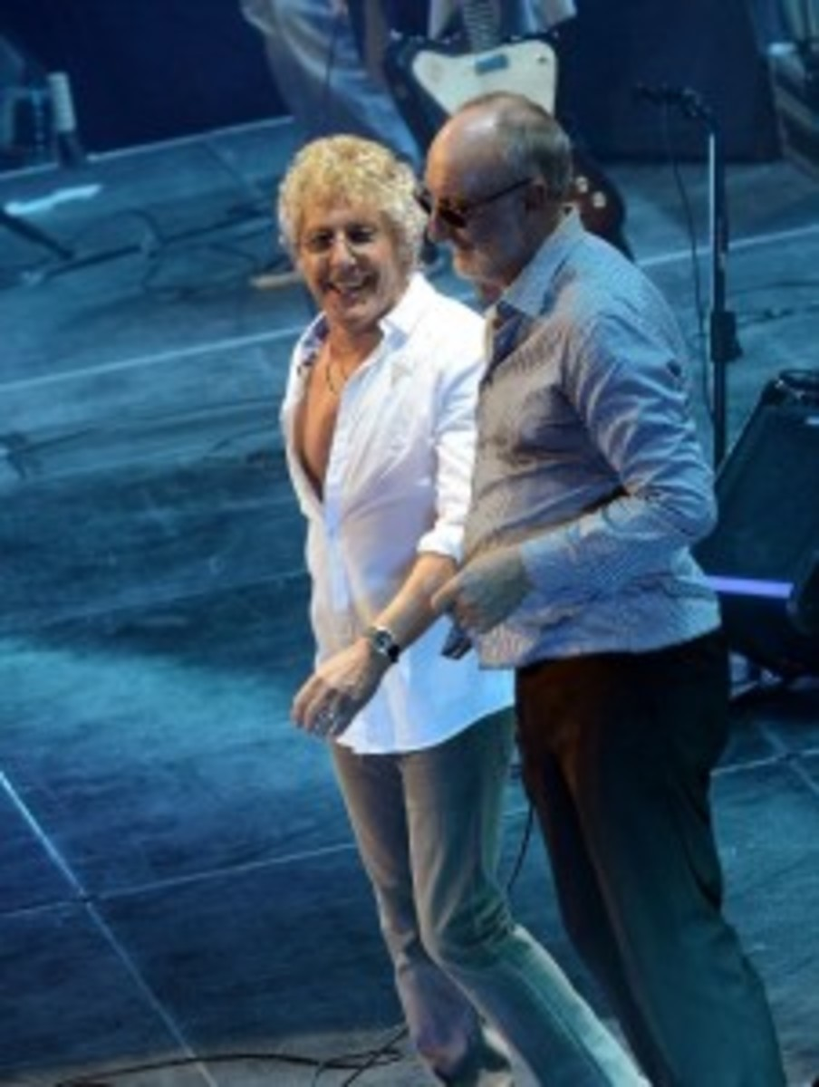 Rock veterans The Who were terrific at the Mohegan Sun Arena in Uncasville, CT on Sunday, May 24th, a show that is part of the tour celebrating the band's 50th anniversary. (Photo by Rick Diamond)