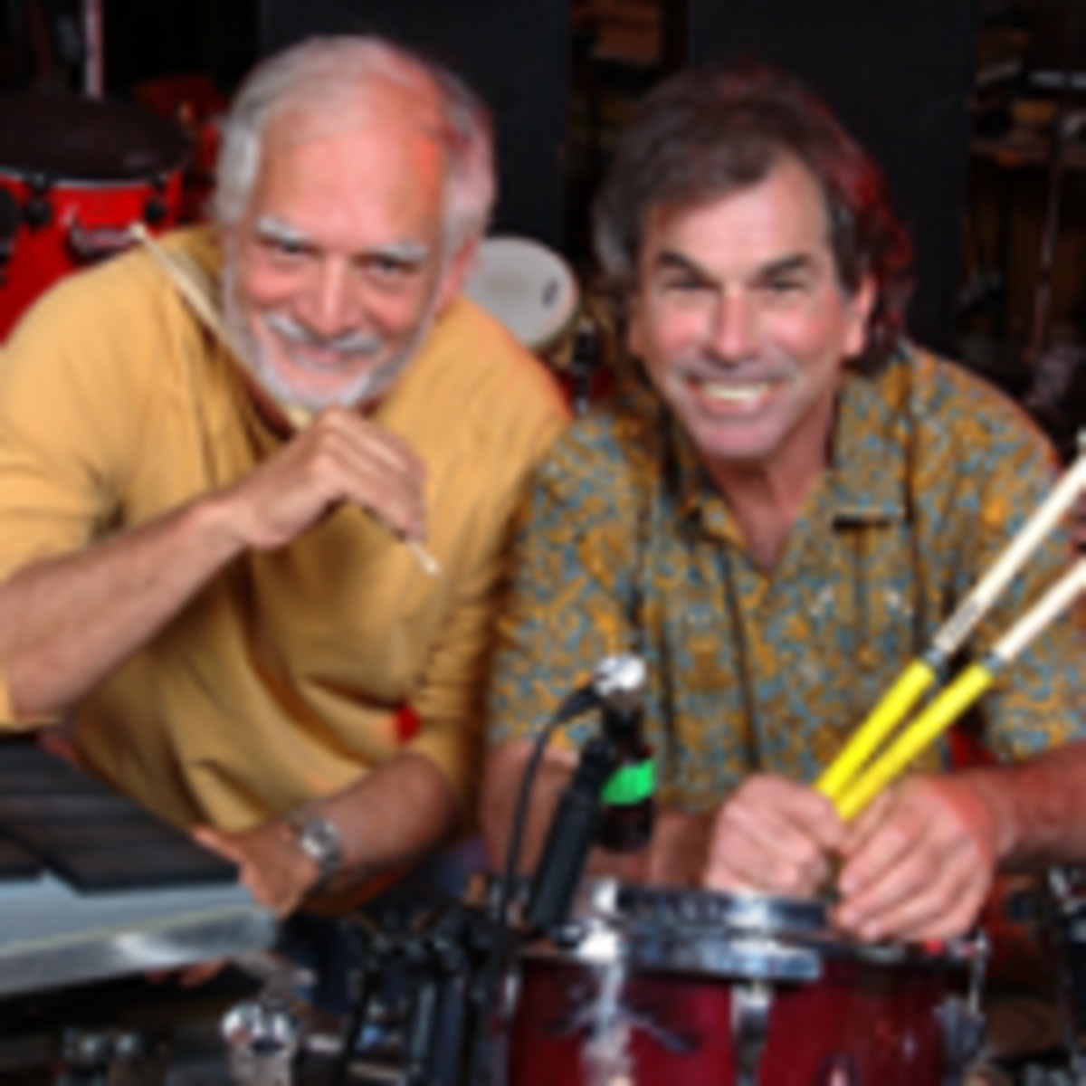 Bill Kreutzmann (left) and Mickey Hart