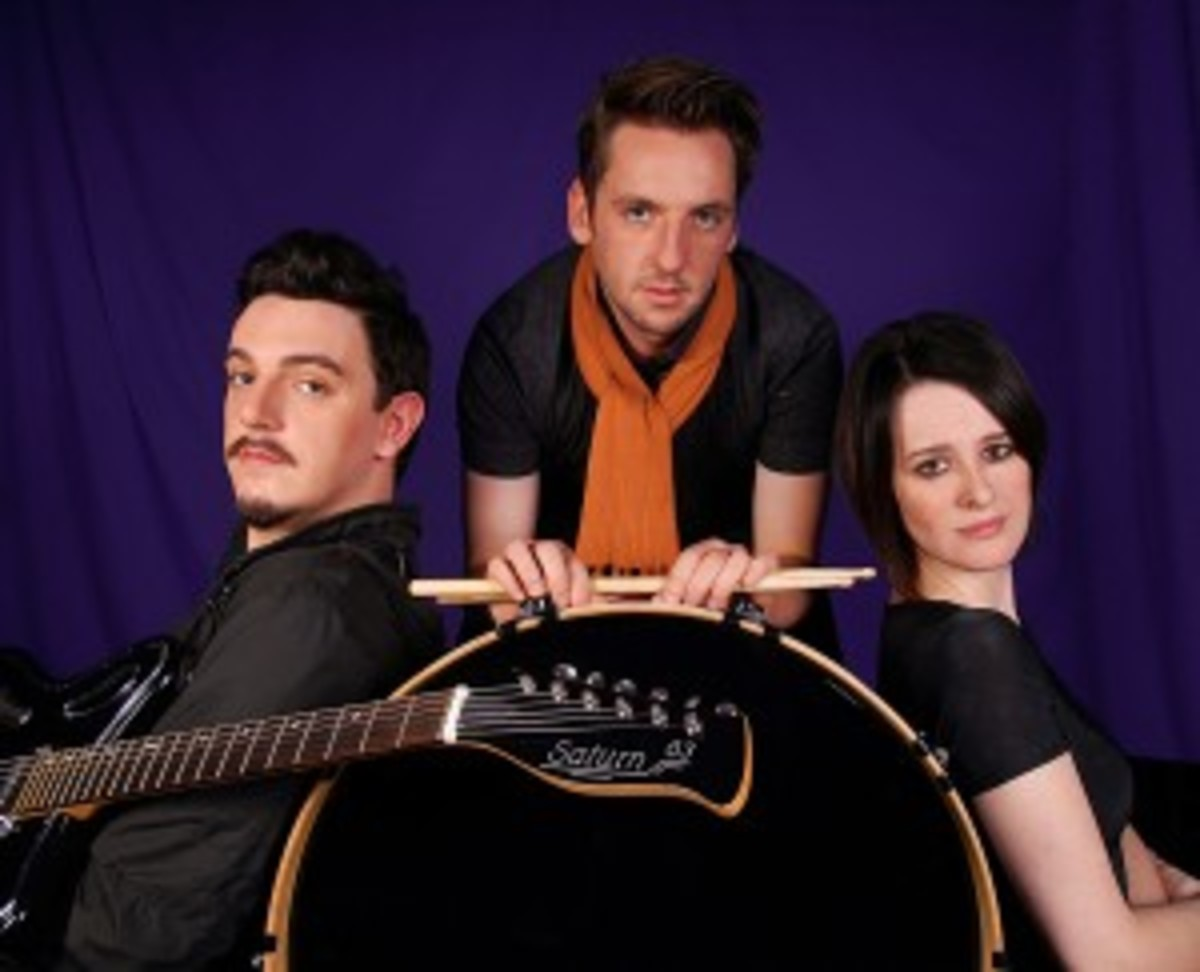 GoGoBot are (left to right) Marko Kelly (guitar and lead vocals), Gordon McNeil (drums), and Rosie McClune (bass).