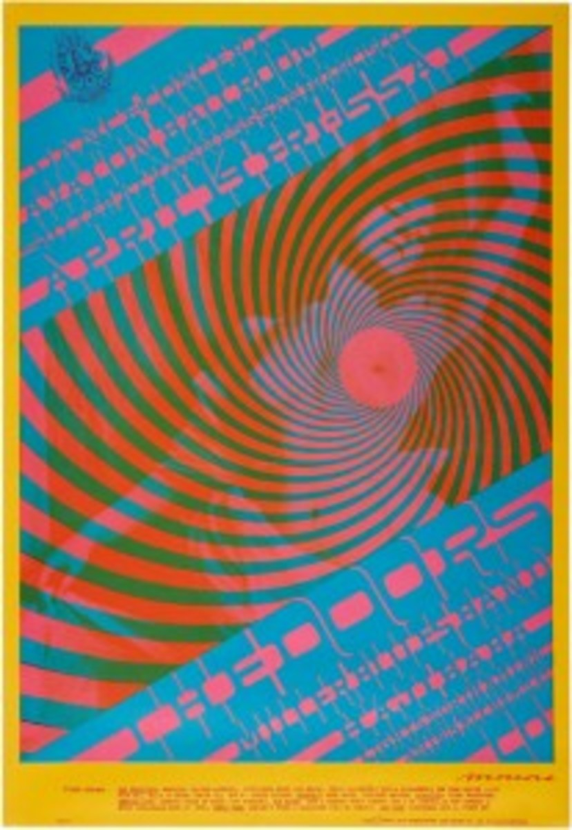 Victor Moscoso Doors poster