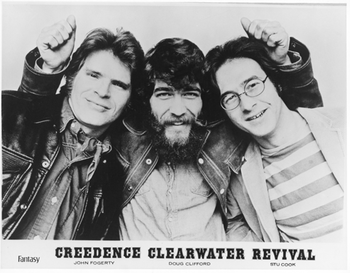 "Creedence Clearwater Revival Stu Cook, Doug ""Cosmo"" Clifford and John Fogerty"