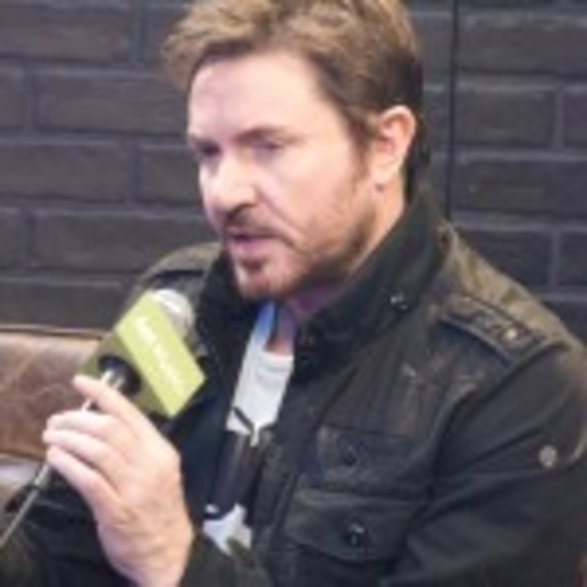 Following his band's SXSW interview with John Norris on March 17, Duran Duran singer Simon LeBon taped an AOL Music segment at the Austin Convention Center. (Photo by Chris M. Junior)
