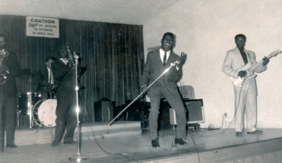 Berry live onstage, photo courtesy of Ace Records