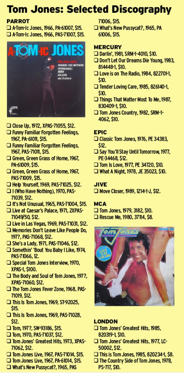 Tom Jones Selected Discography
