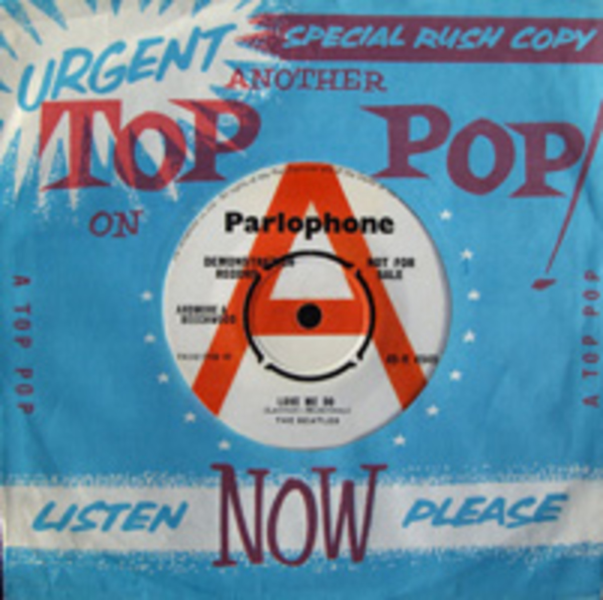 The Beatles Love Me Do promo disc