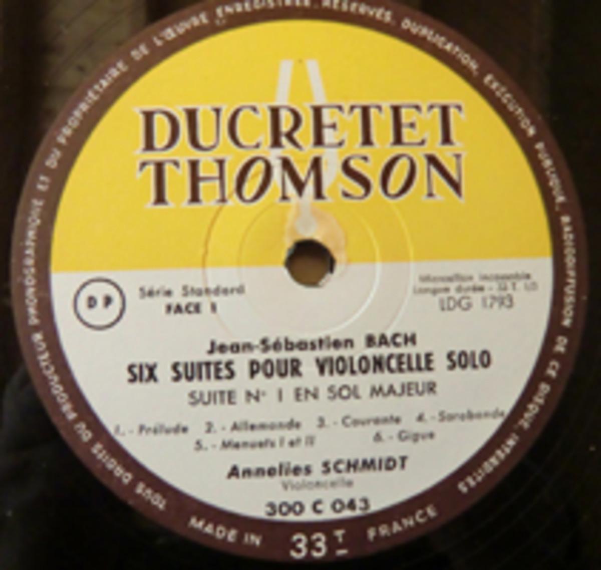 Annelies Schmidt Suites Pour Viloncelle Solo LP box set