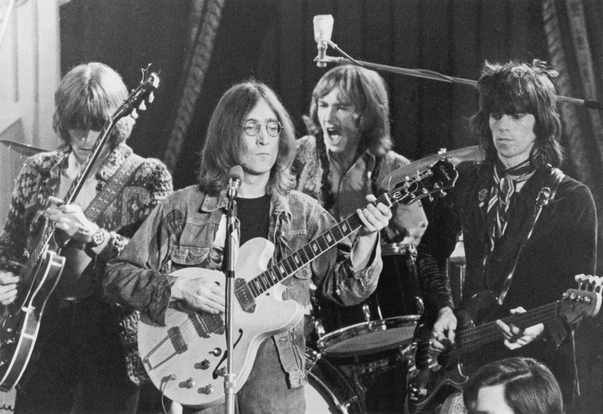 Dirty Mac John Lennon Eric Clapton Keith Richards Mitch Mitchell Rock and Roll Circus