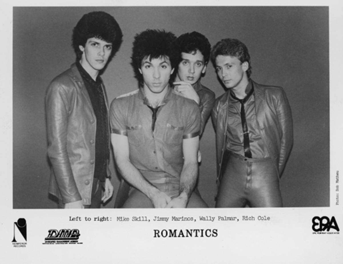 Vintage publicity photo of The Romantics.