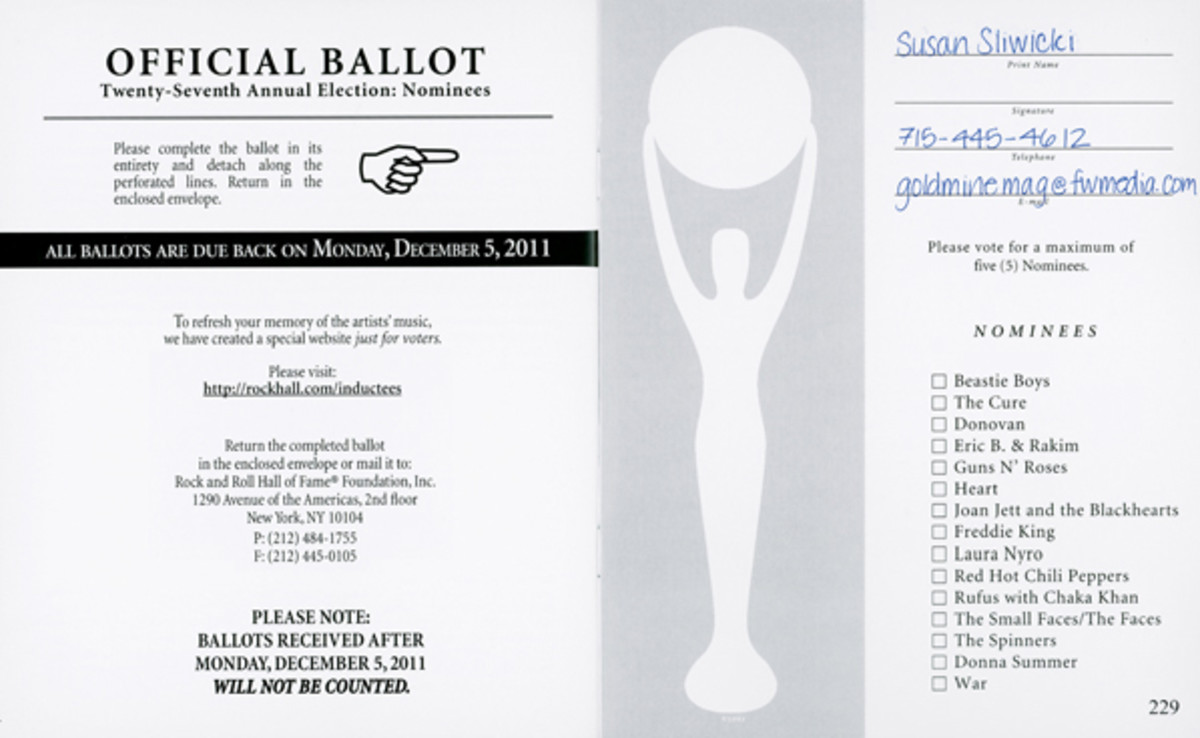 2011 Rock Hall Ballot