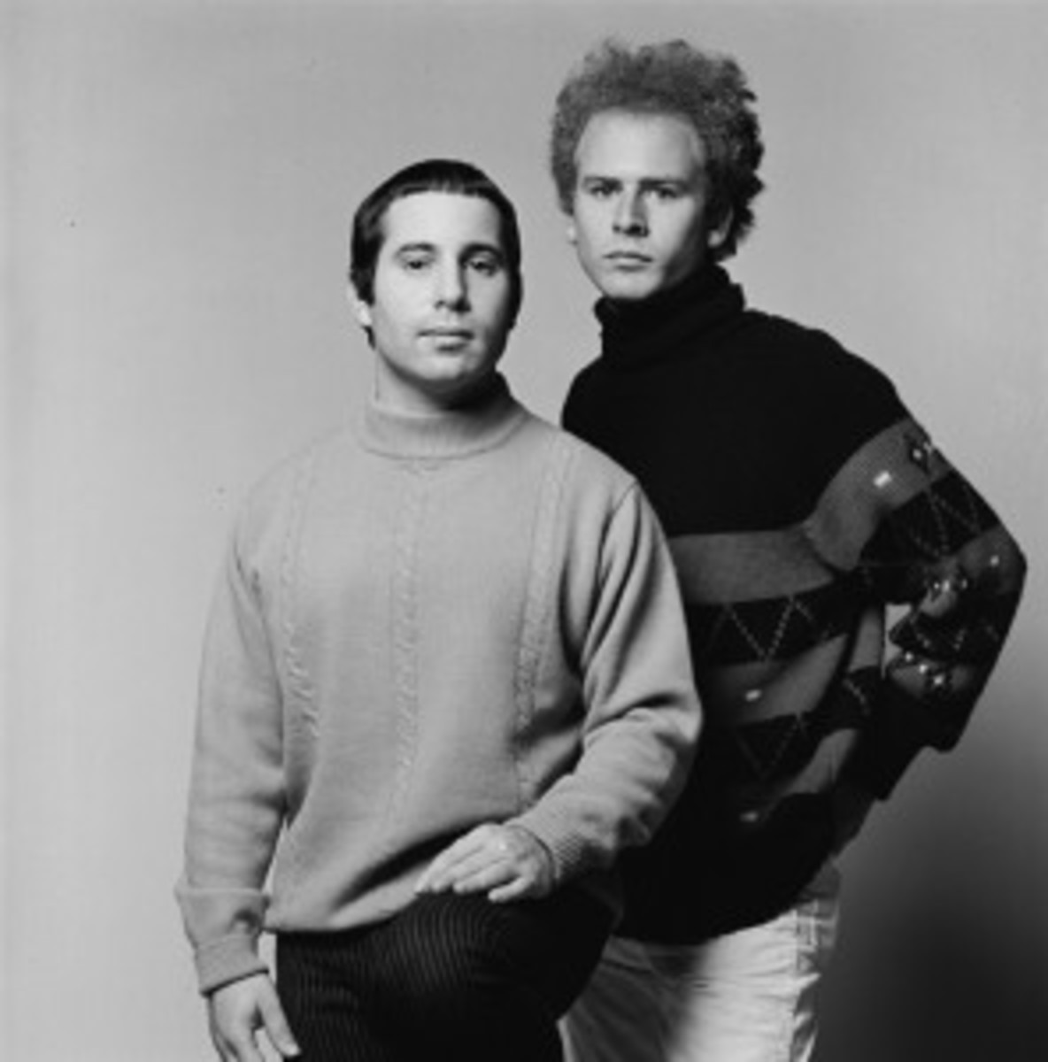 "January 1968: A formal portrait of the vocal duo Simon & Garfunkel, around the time of their Columbia album release ""Bookends."" (Photo by Don Hunstein/Courtesy of Sony Music Archives"