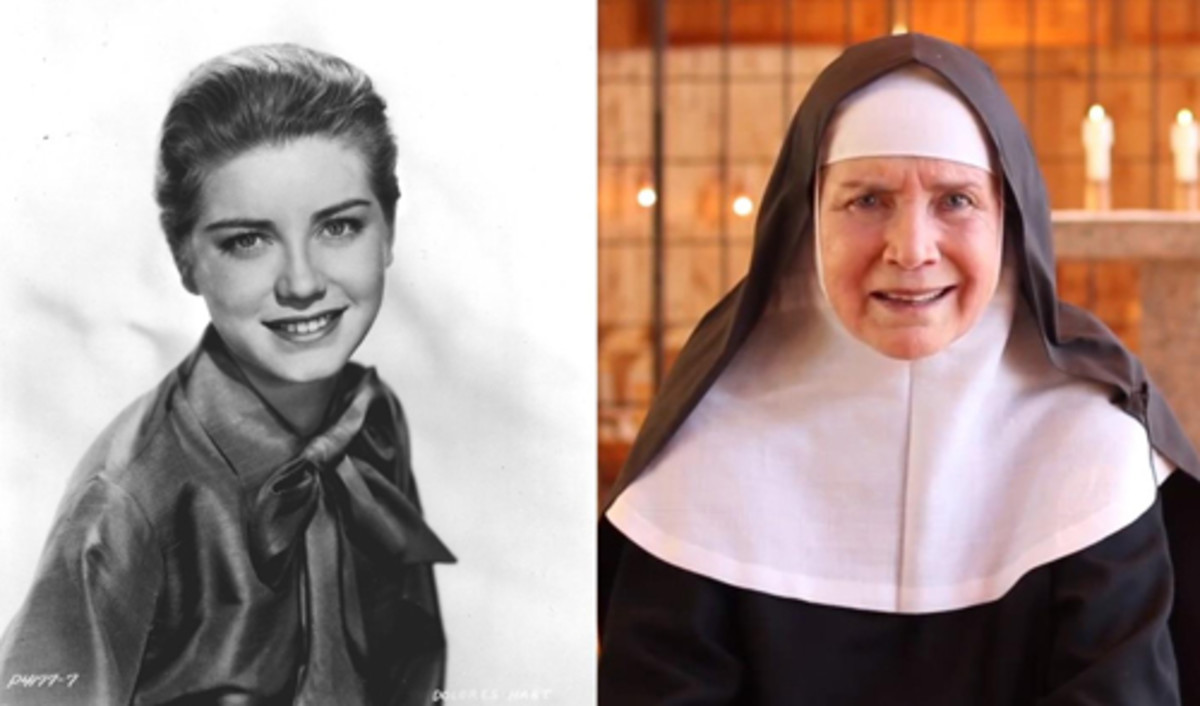 "Dolores Hart co-starred with Elvis Presley in two movies before she gave up show business in 1963 to follow a religious calling. But Mother Dolores Hart, as she's known today, could've been a perfect fit for the role of Sister Michelle opposite Presley in 1969's ""Change of Habit,"" which went to Mary Tyler Moore. Photos courtesy Ignatius Press."