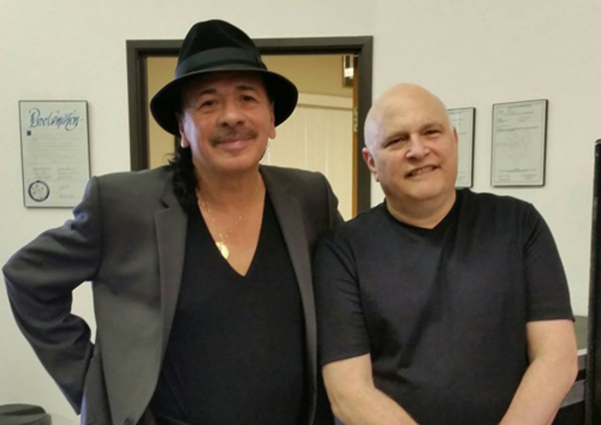 Carlos Santana and Mike Greenblatt, 2015.