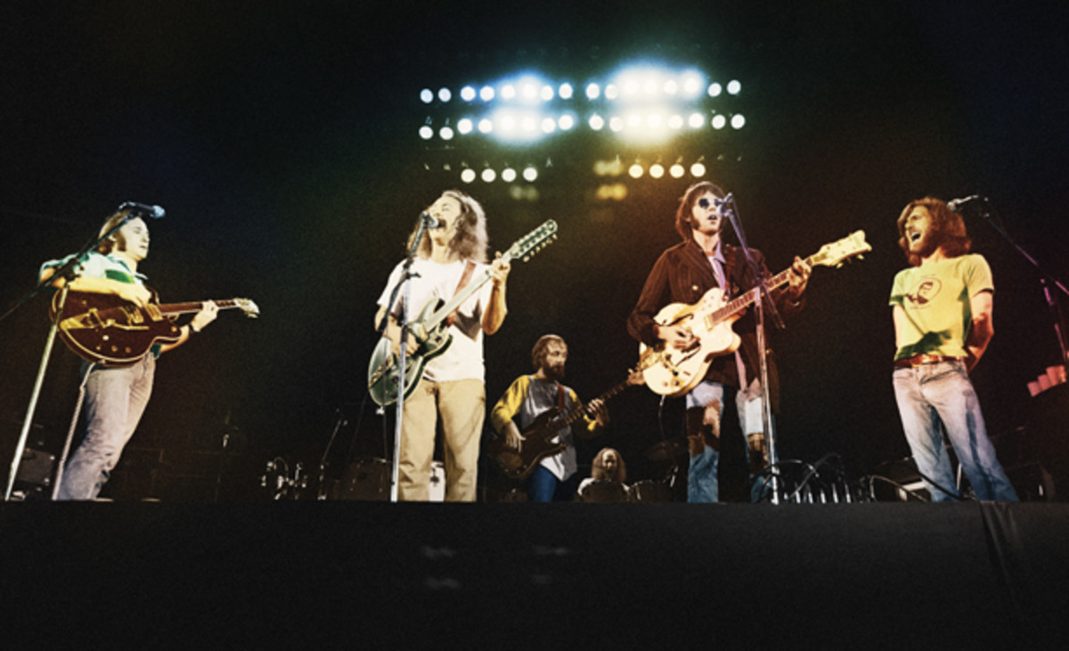 """For years, the only available recording of Crosby, Stills, Nash & Young's 1974 tour was a bootleg of its performance at Wembley, which Graham Nash admits was not its best. """"I didn't want fans to think that's who we were. I wanted to expose them to the really great music that we did,"""" he said. Hence, the group released """"CSNY 1974."""""""