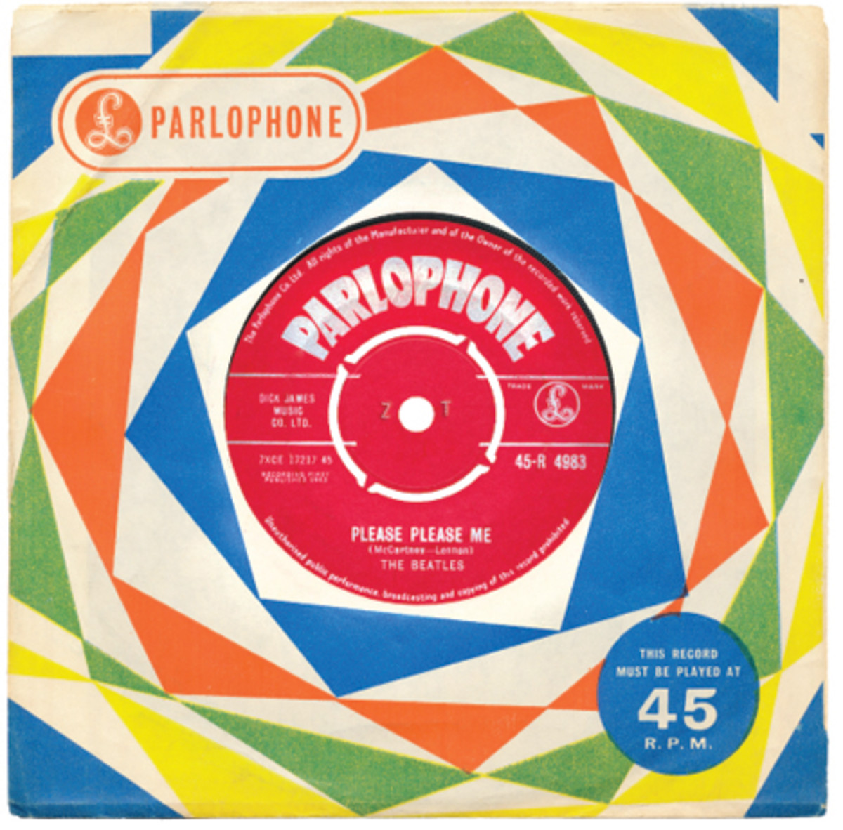 The Beatles Please Please Me b/w Ask Me Why on Parlophone