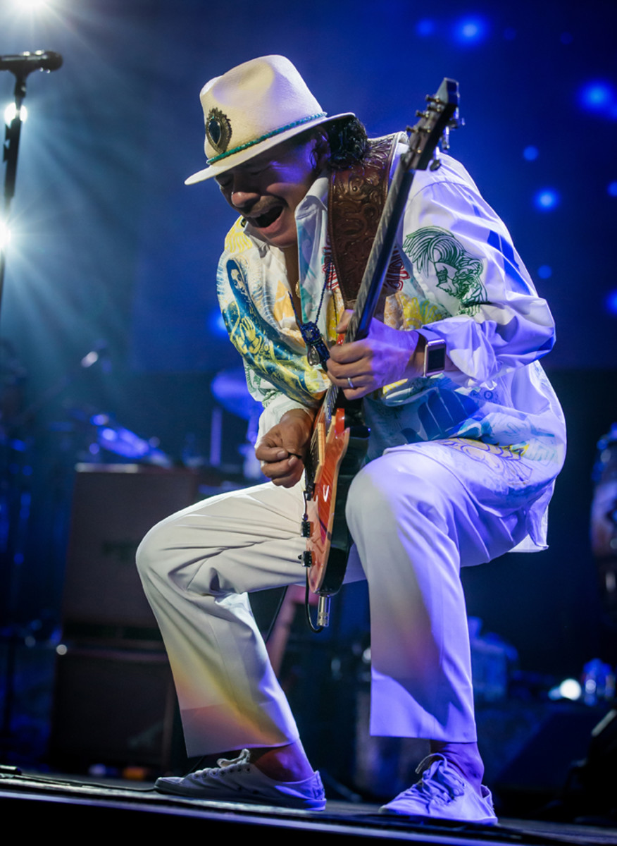 """Should I lose my fingers and I couldn't play guitar, I would still be a creative force,"" claims Carlos Santana. Photo by Eric Kabik"