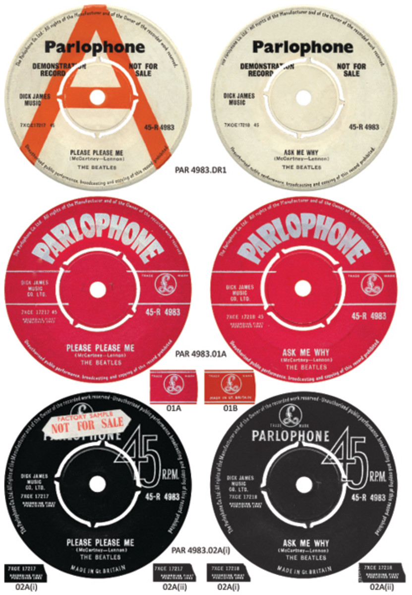 The Beatles Please Please Me labels