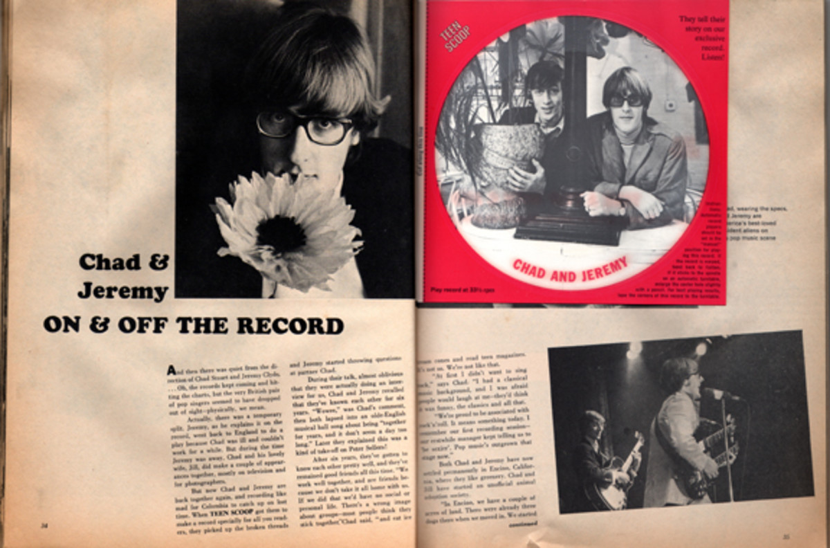 Teen Scoop Magazine featuring Chad and Jeremy flexidisc