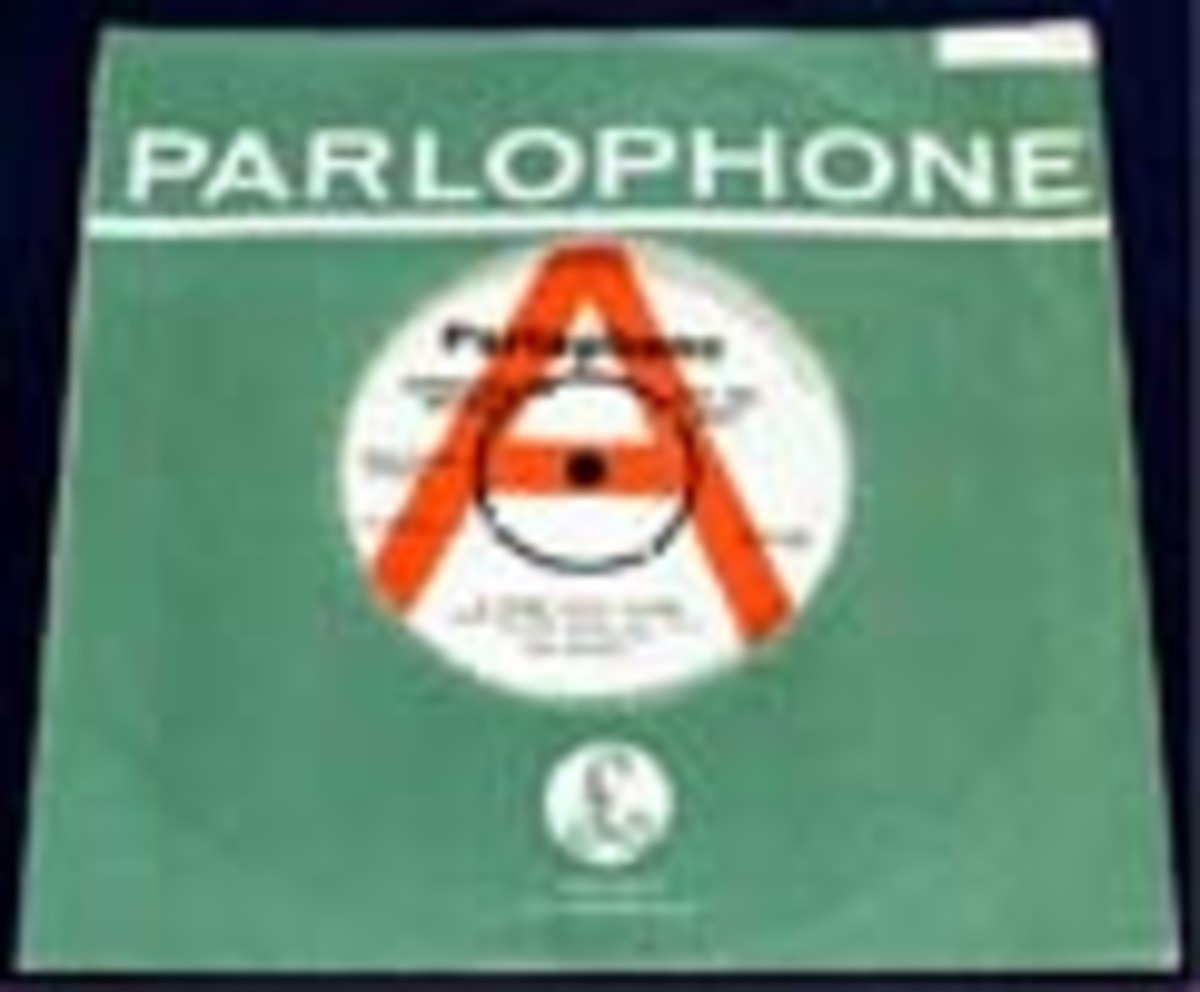 Beatles Hard Day's Night Parlophone single