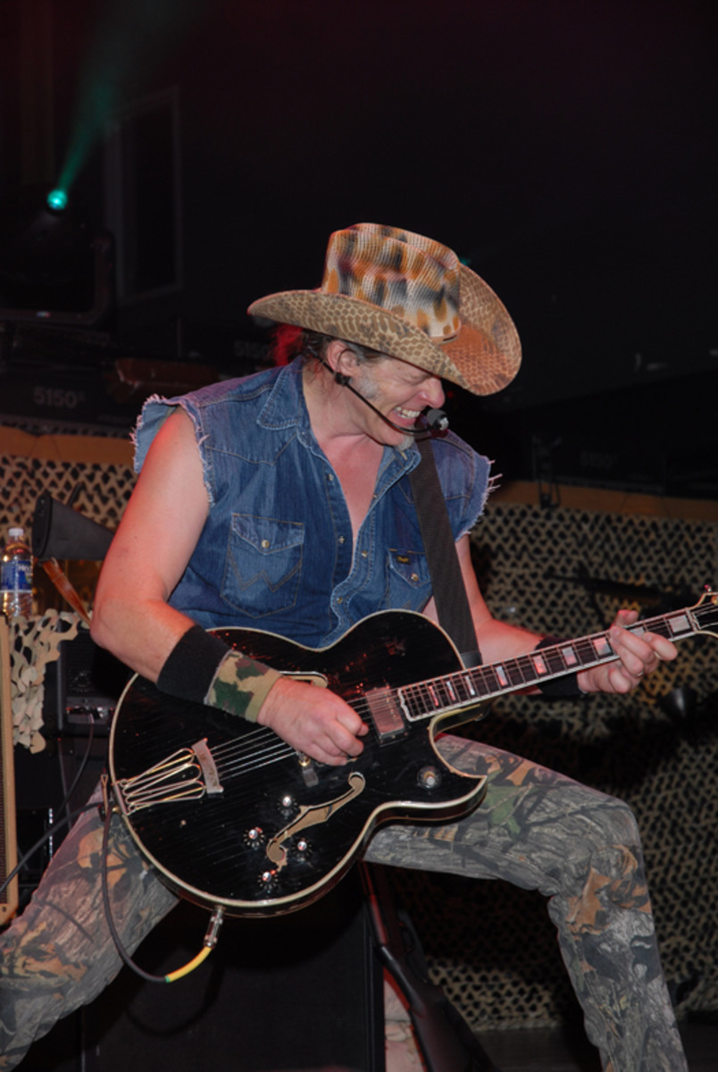 Ted Nugent in concert, June 21, 2010. Columbus, Ohio. Photo courtesy of Ted Nugent.