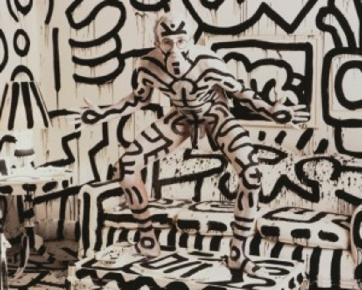 Keith Haring photo by Annie Leibovitz via Sothebys