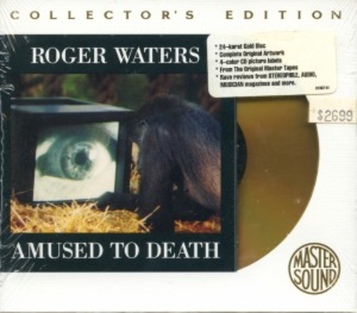 "ONE OF JAMES' favorite finds was this gold CD of Roger Waters' ""Amused To death,"" found still-sealed and at the original asking price."