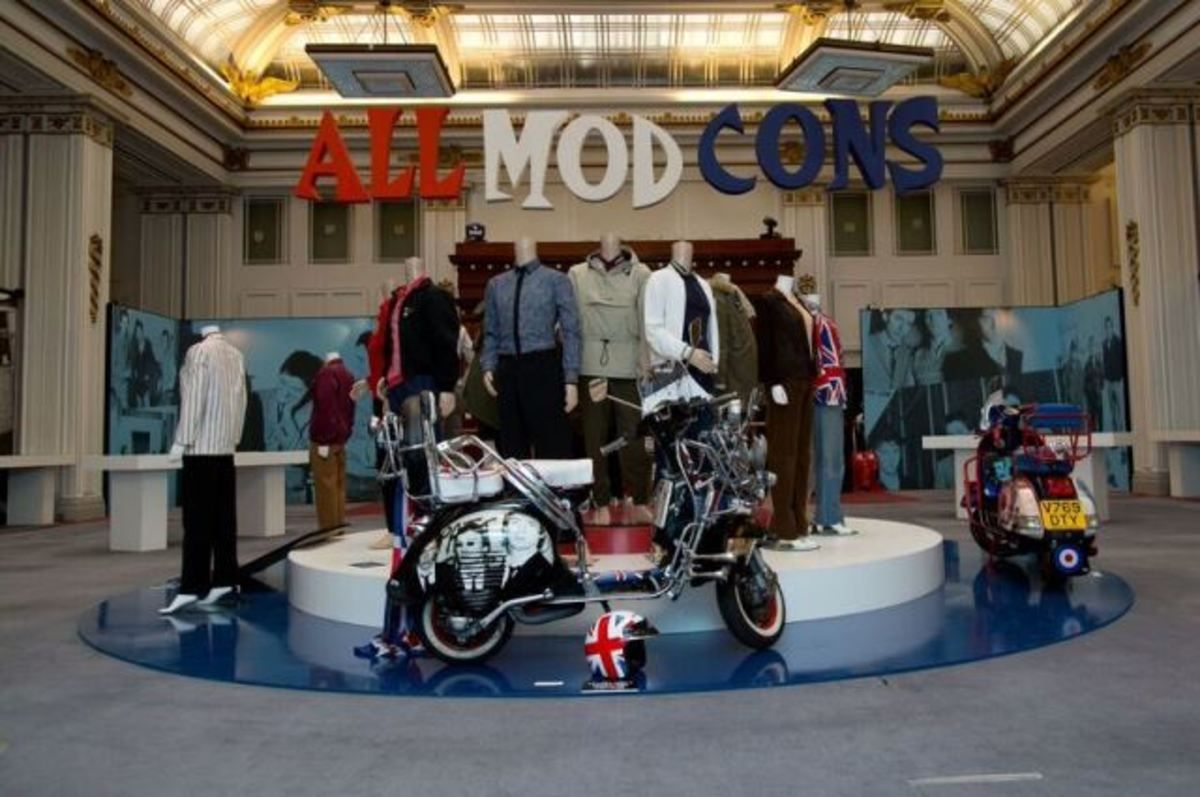 The fantastic All Mod Cons display, which pays tribute to The Jam's landmark third album, from the Liverpool exhibition. (Photo by Dean Fardell for Nicetime Productions)