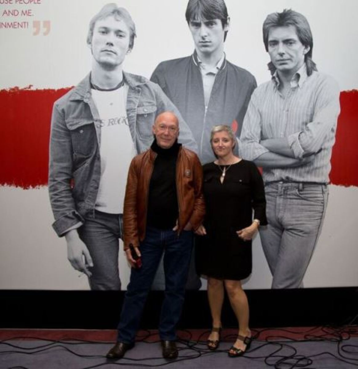The Jam's drummer, Rick Buckler, and exhibition co-curator Nicky Weller at the opening of the Liverpool exhibition last month. (Photo by Dean Fardell for Nicetime Productions)