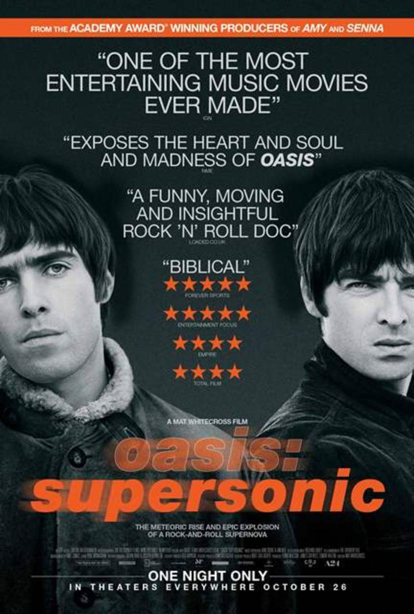 Supersonic, the terrific new documentary about the peak years of Oasis, will be released to theaters in the United States as a one-night-only event on Wednesday, October 26th.