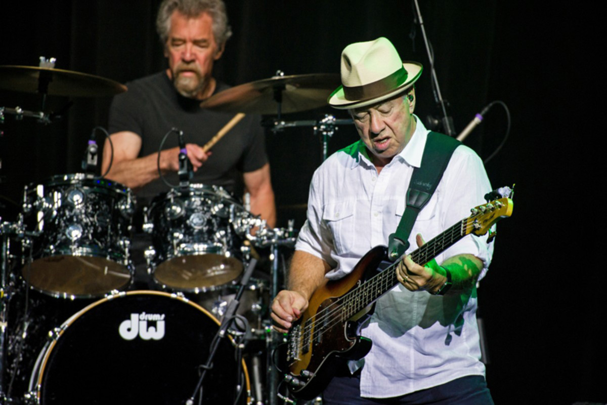"""Drummer Doug """"Cosmo"""" Clifford and bassist Stu Cook performing as the Creedence Clearwater Revisited. Image courtesy of creedence-revisited.com."""