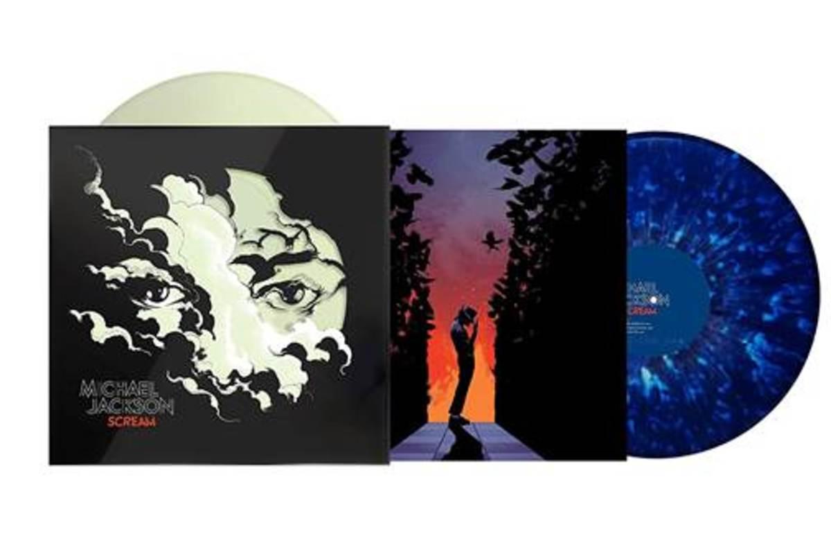 Michael Jackson - Scream [2LP] (Glow-In-The-Dark & Blue Splatter Vinyl, poster, augmented reality cover art, download, collection of dance classics plus new bonus mashup)