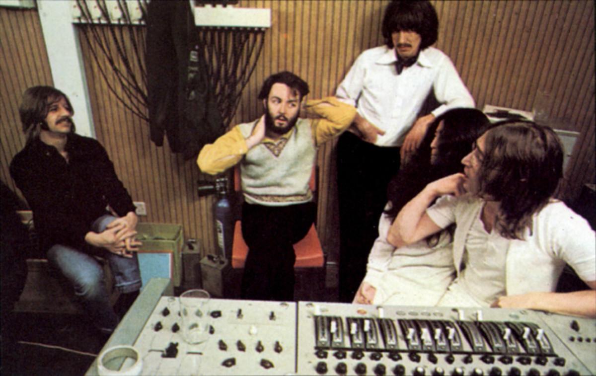 Beatles in the studio, January 1969. © Apple Corps Ltd.