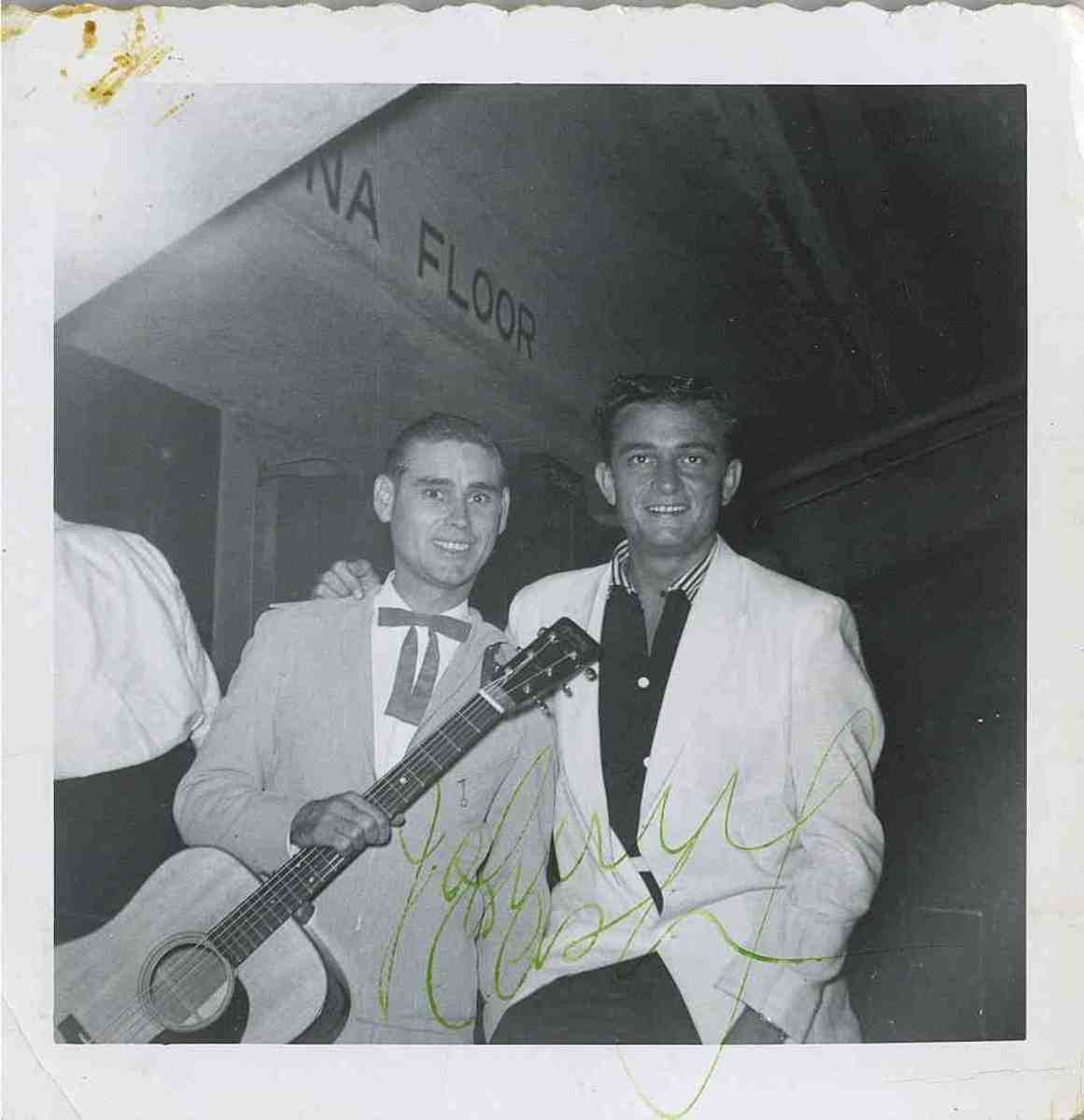 George Jones with Johnny Cash. Photo by George Kealiher, Jr., courtesy of the CMHOF.