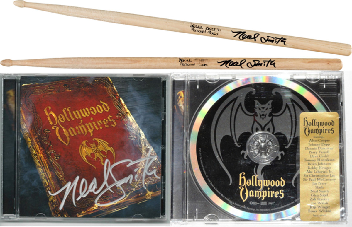 """The Hollywood Vampires"" Neal Smith Autographed Drumsticks from the recording session of ""School's Out/Another Brick In The Wall pt. 2"""