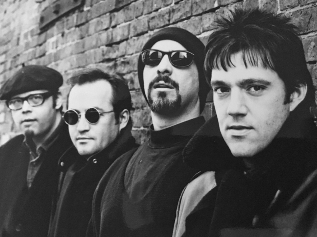 The Smithereens' original lineup (L-R): Dennis Diken, Jim Babjak, Pat DiNizio and Mike Mesaros. Photo: Jim Babjak Archives.