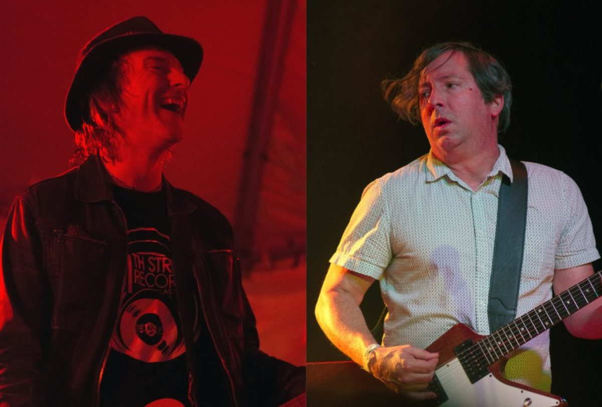 Tommy Stinson (left) and Fastball's Tony Scalzo (Photos by Chris M. Junior)
