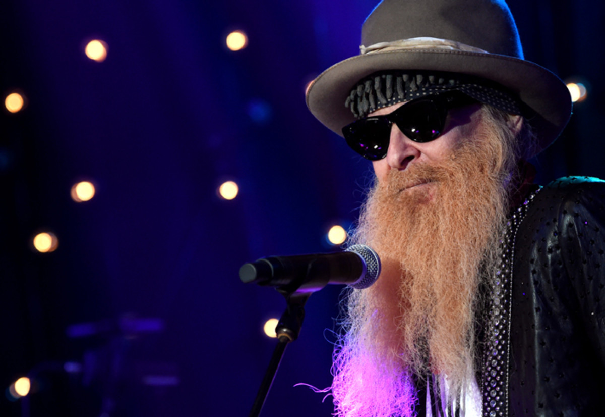Billy Gibbons of ZZ Top performs onstage during Skyville Live Presents Guitar Greats featuring Billy Gibbons, Robert Randolph, Charlie Starr, and Charlie Worsham on May 4, 2017 in Nashville, Tennessee. (Photo by Rick Diamond/Getty Images for Skyville)