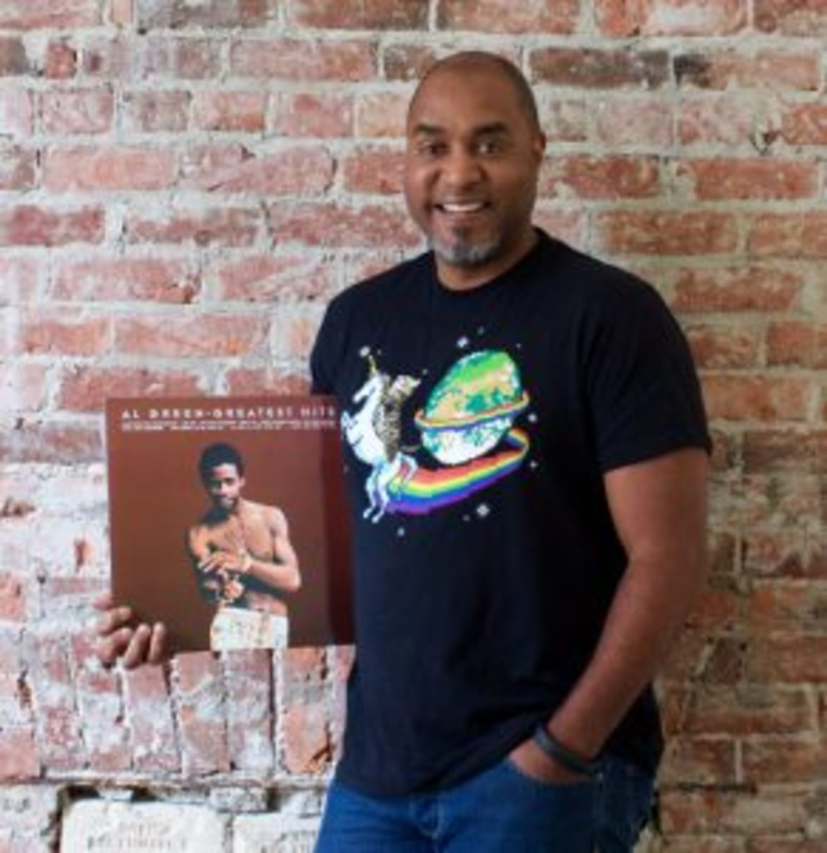 ReplyYes CEO Dave Cotter with a favorite album.