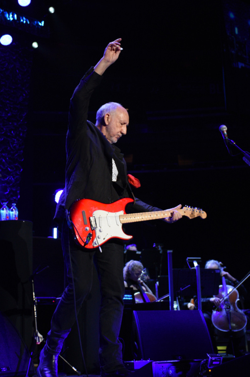 Pete Townshend provided some fretboard fireworks during The Who's magnificent Madison Square Garden show on Monday, May 13th. (Photo by Frank White Photography)