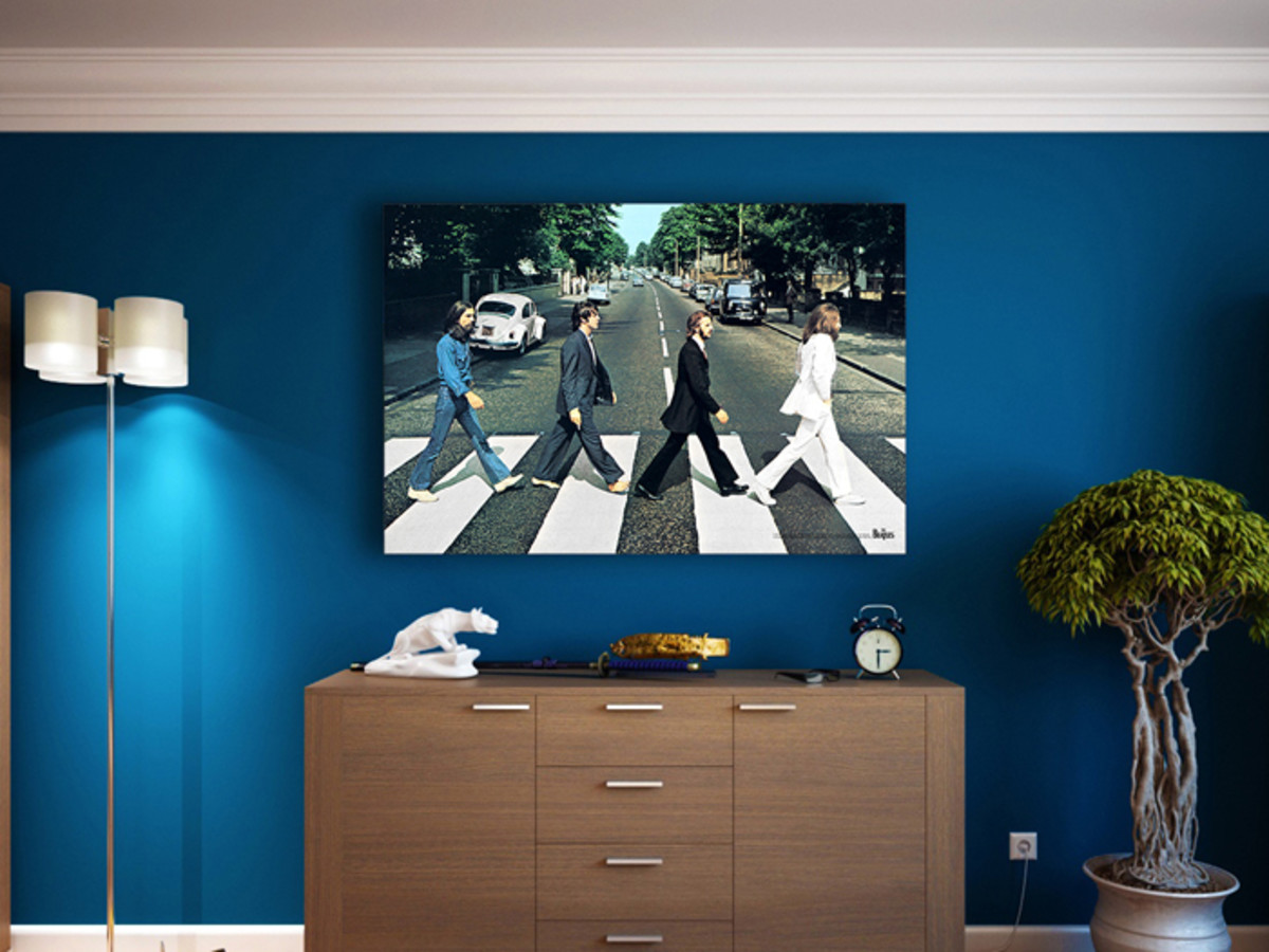 Nothing's better than an Abbey Road crossing in your living room. Image courtesy of Steiner Sports.