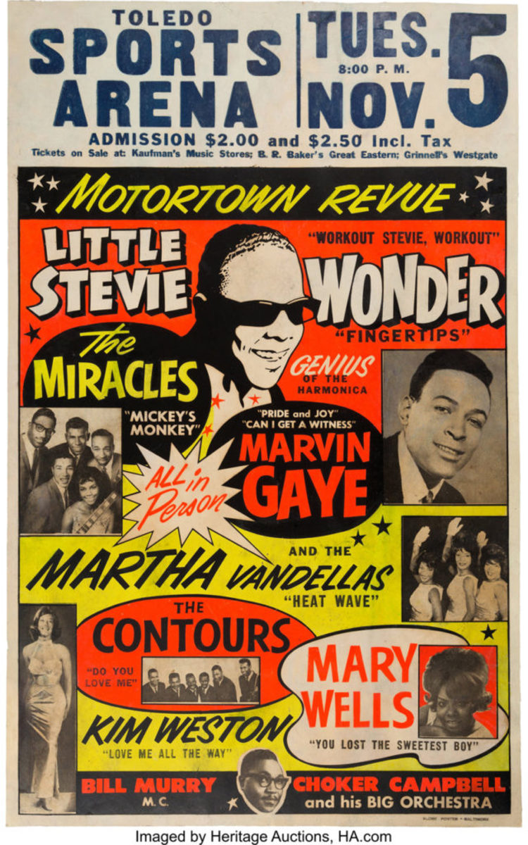 """The extremely rare """"Motortown Revue"""" concert poster (1963)."""