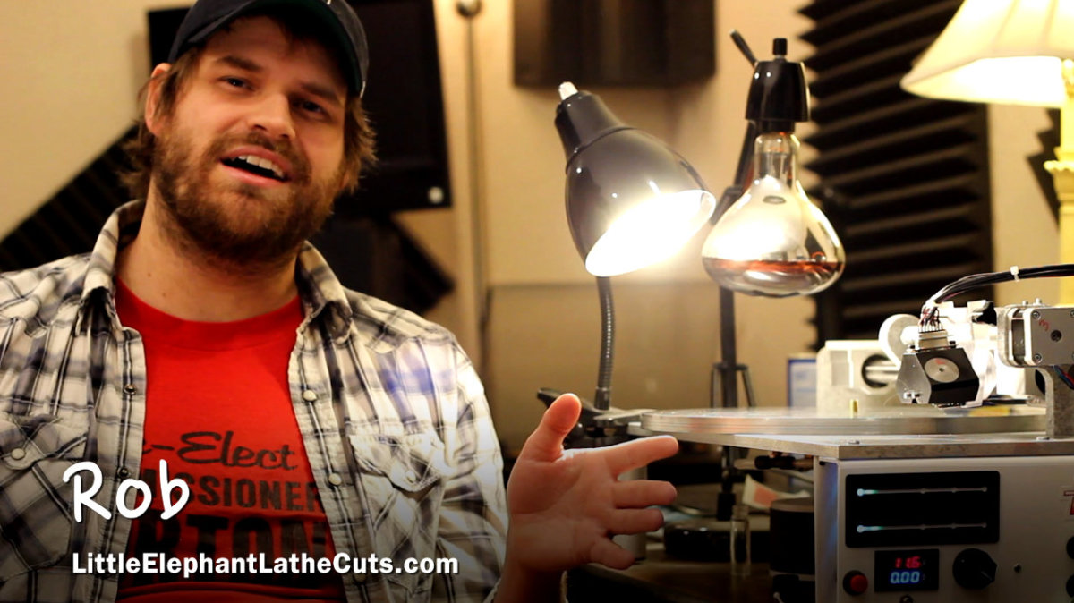 Rob Courtney, owner of Little Elephant Lathe Cuts.