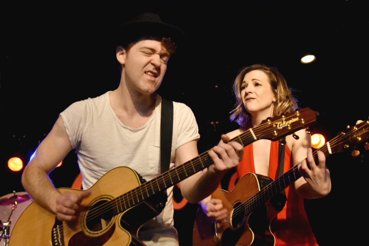 Justin Davis and Sarah Zimmermann of Striking Matches in action at Antone's on March 15. (Photo by Chris M. Junior)
