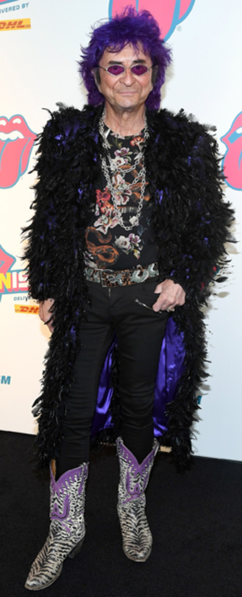 """Jim Peterik attends """"Exhibitionism - The Rolling Stones"""" Chicago exhibit opening at Navy Pier on April 19, 2017 in Chicago, Illinois. (Photo by Daniel Boczarski/Getty Images)"""