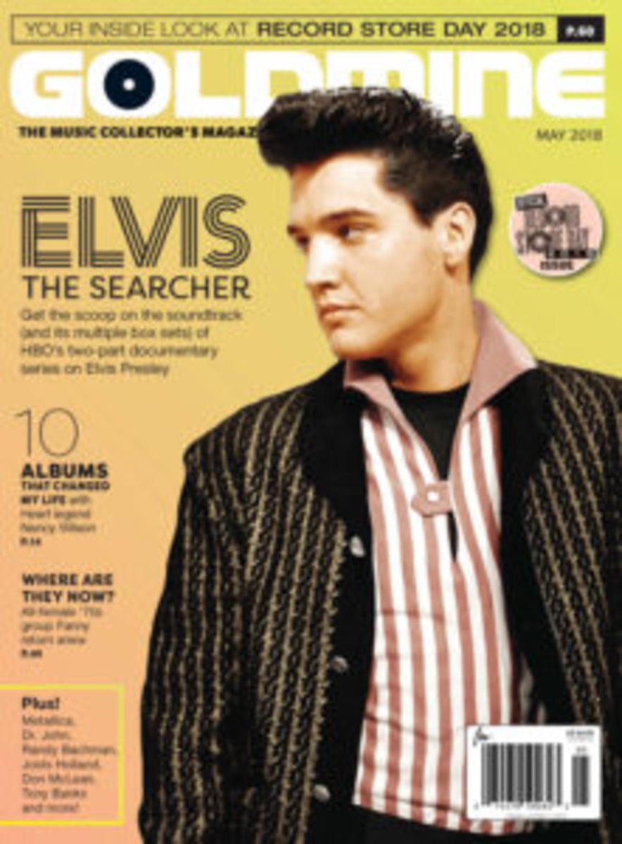 The cover for Goldmine's Elvis: The Searcher issue. This feature originally ran in Goldmine's May print edition.
