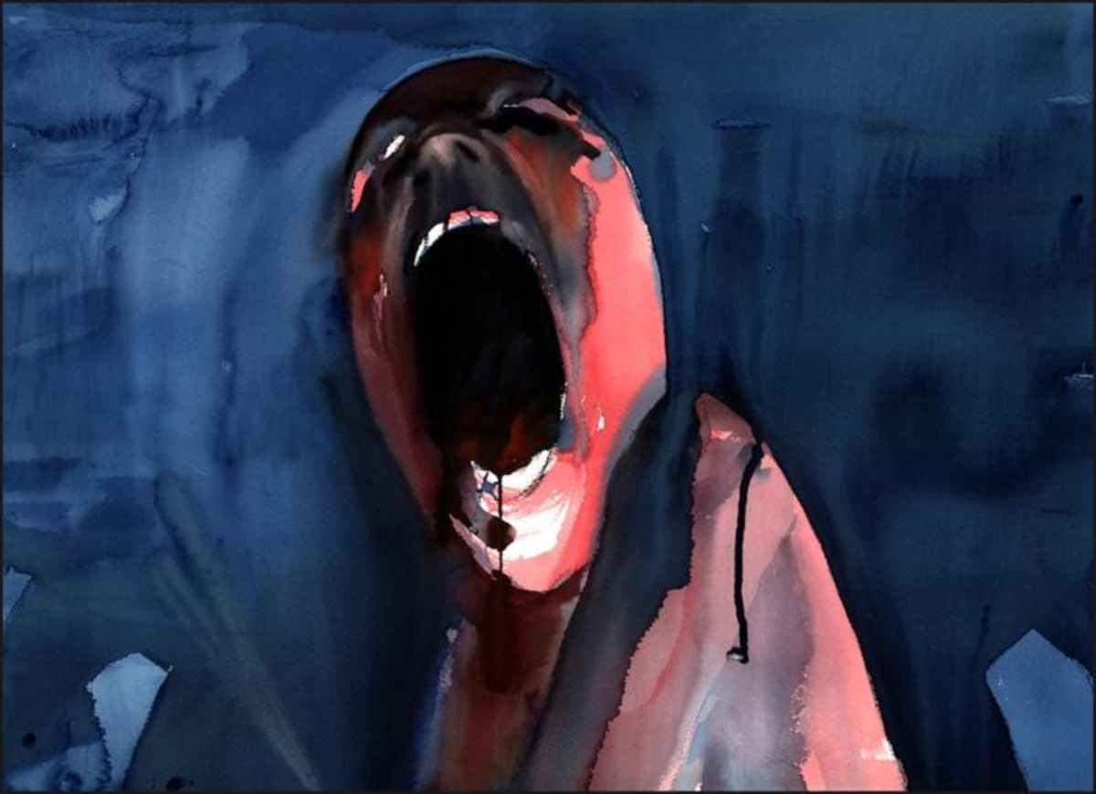"Gerald Scarfe's ""The Scream."" Image courtesy of San Francisco Art Exchange"