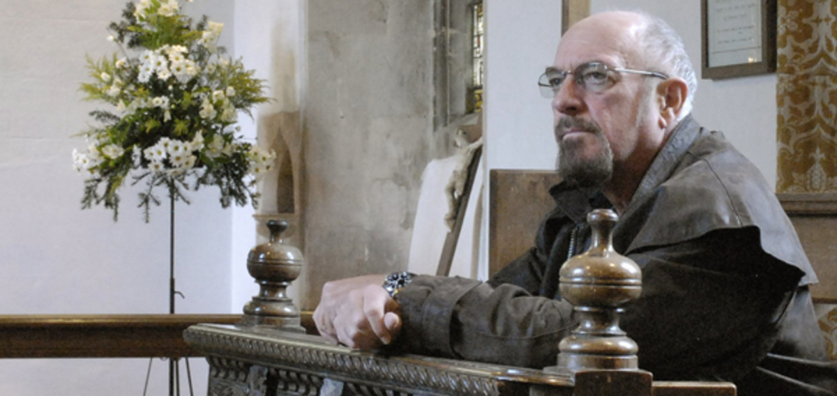 Ian Anderson ponders Jethro Tull's music in a sacred place. Publicity photo