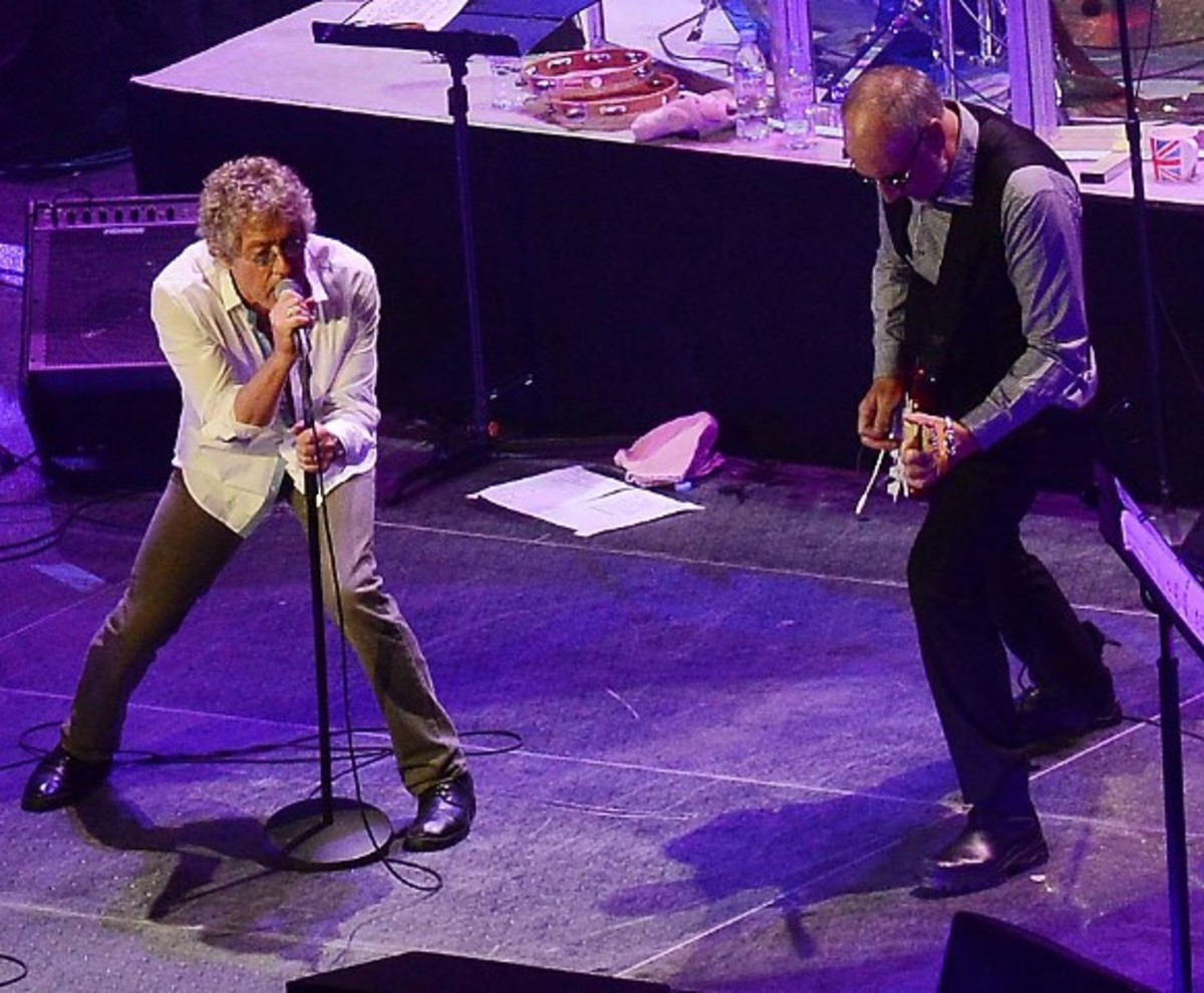 The Who pulled out all of the stops at their outstanding show on Saturday, March 19th at the Prudential Center in Newark, NJ. (Press photo by Rick Diamond)