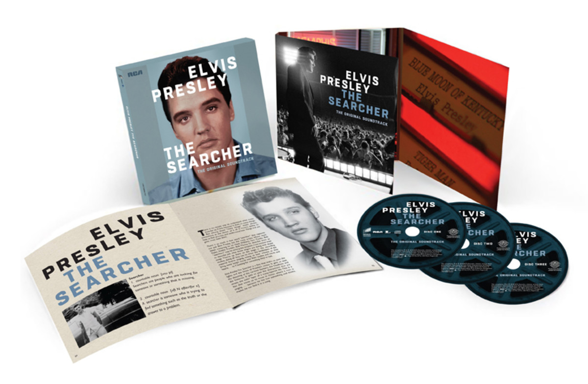 Elvis: The Searcher 3-CD set. Photo courtesy of Sony Legacy.