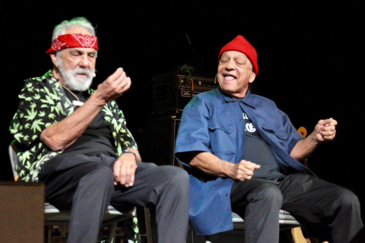 Tommy Chong & Cheech Marin in Celebrity Theatre of The Flower Power Cruise on the Celebrity Infinity April 5, 2019 by Alisa B. Cherry.