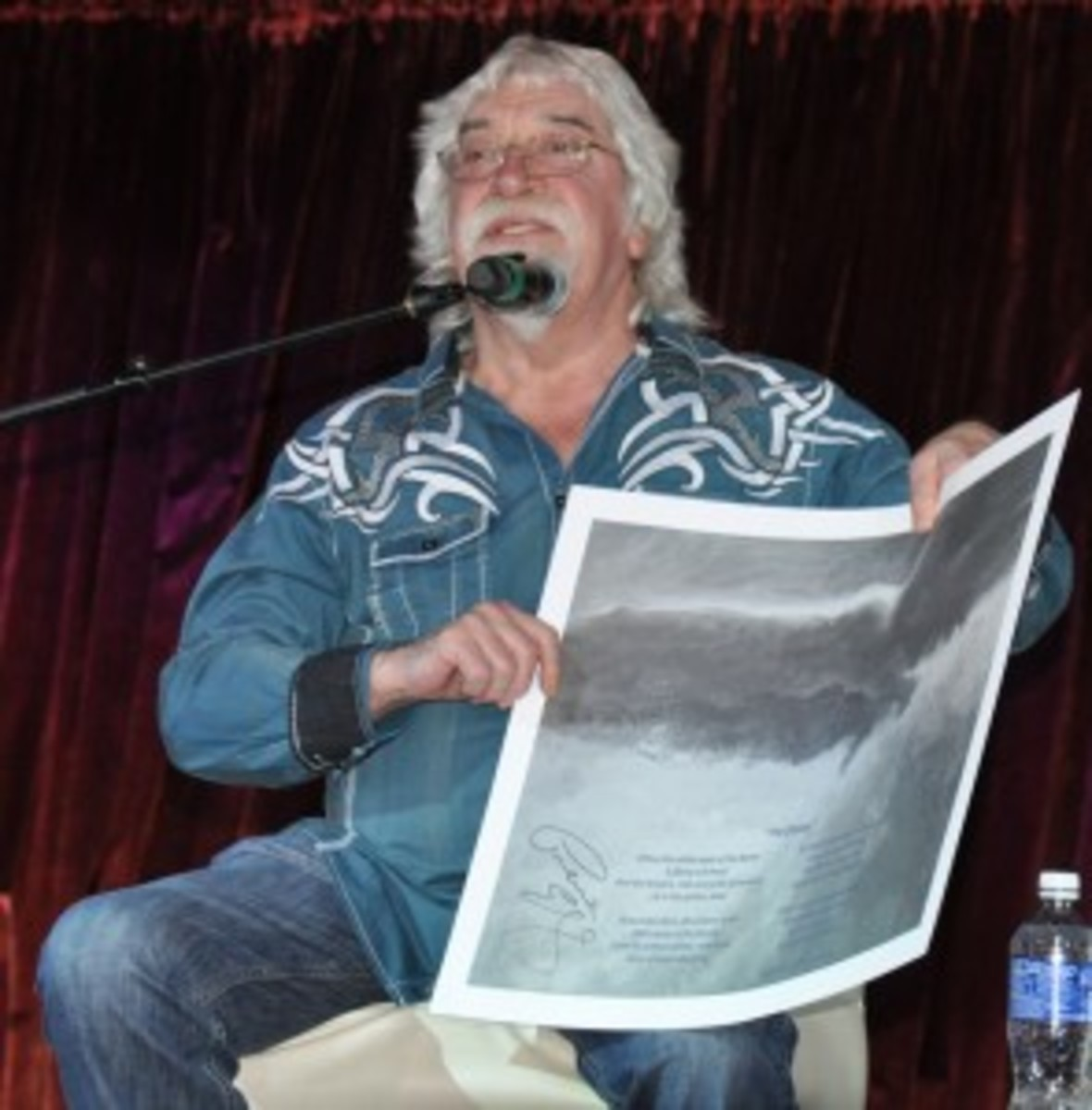 Graeme Edge during the Moody Blues storytelling session of the cruise.